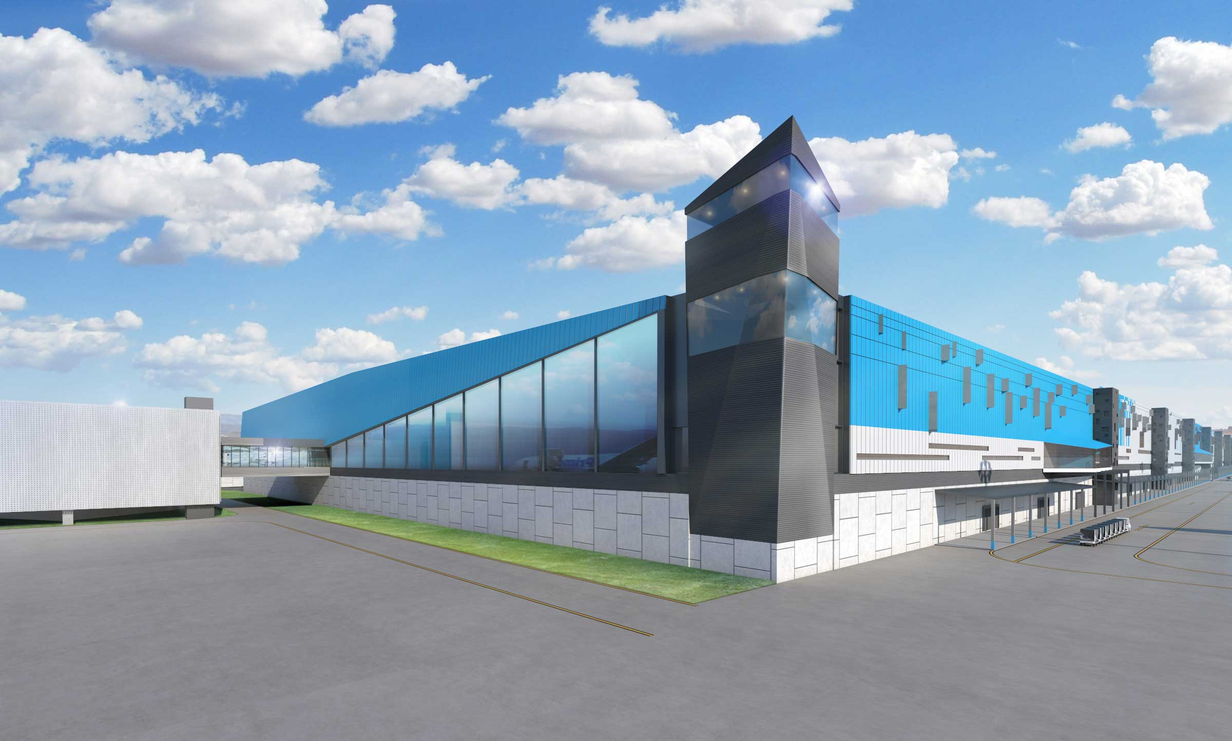 Impression of the Amazon Air Hub that will open in 2021 at Cincinnati-Northern Kentucky International Airport