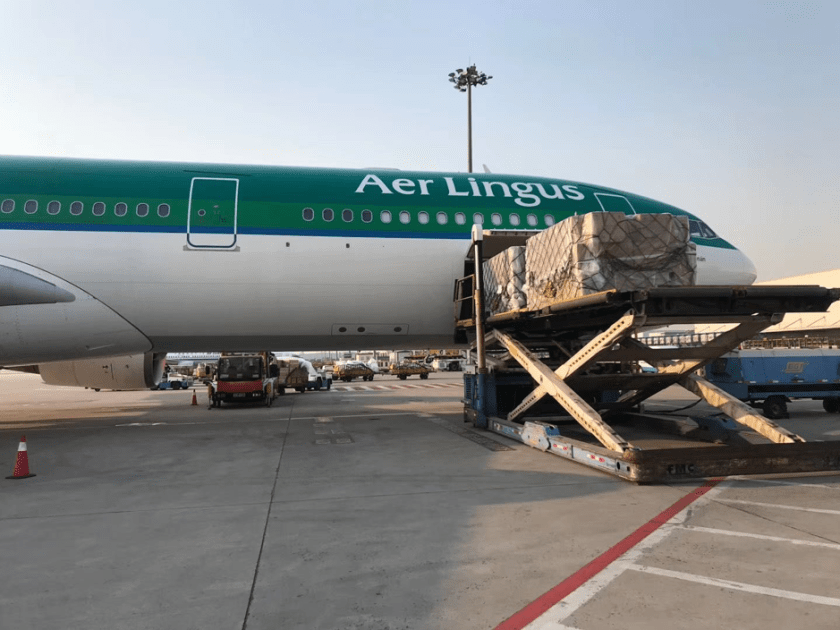 IAG Cargo's operational teams in Dublin work seamlessly with Aer Lingus to unload each aircraft immediately upon arrival