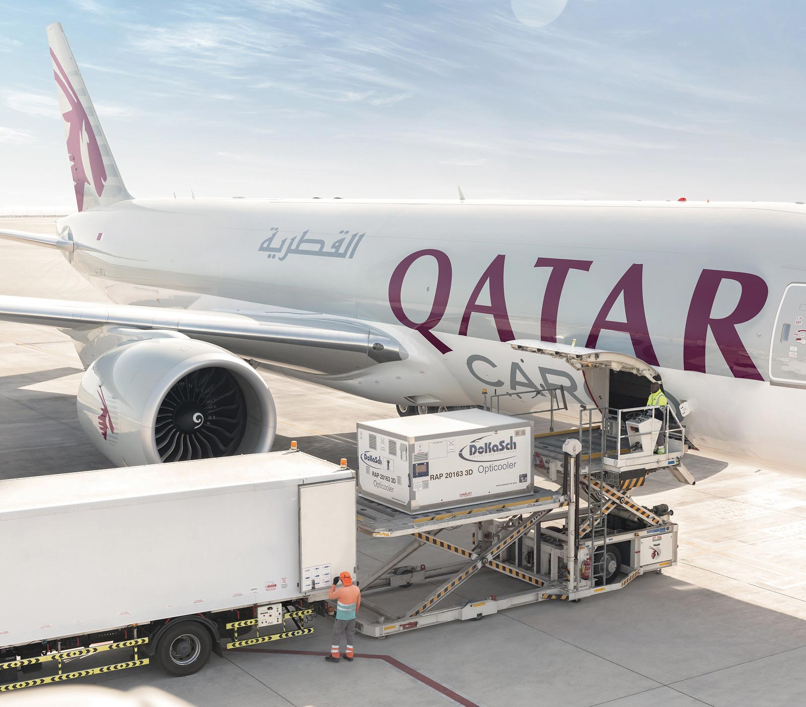 Qatar Airways transports medical aid and supplies to impacted regions around the globe.