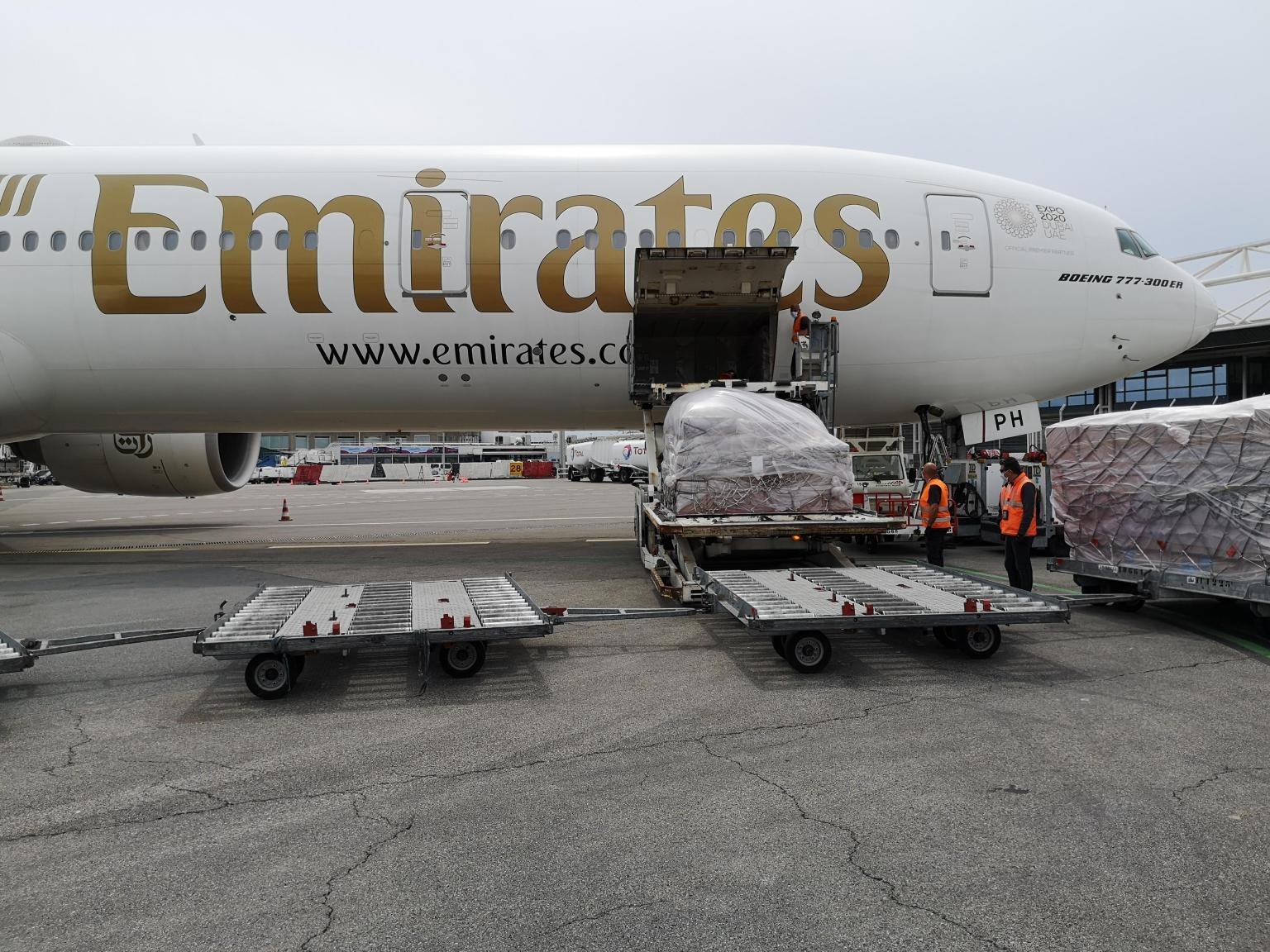 Flying PPEs from Guangzhou, a key production centre to Nice via Emirates Dubai hub