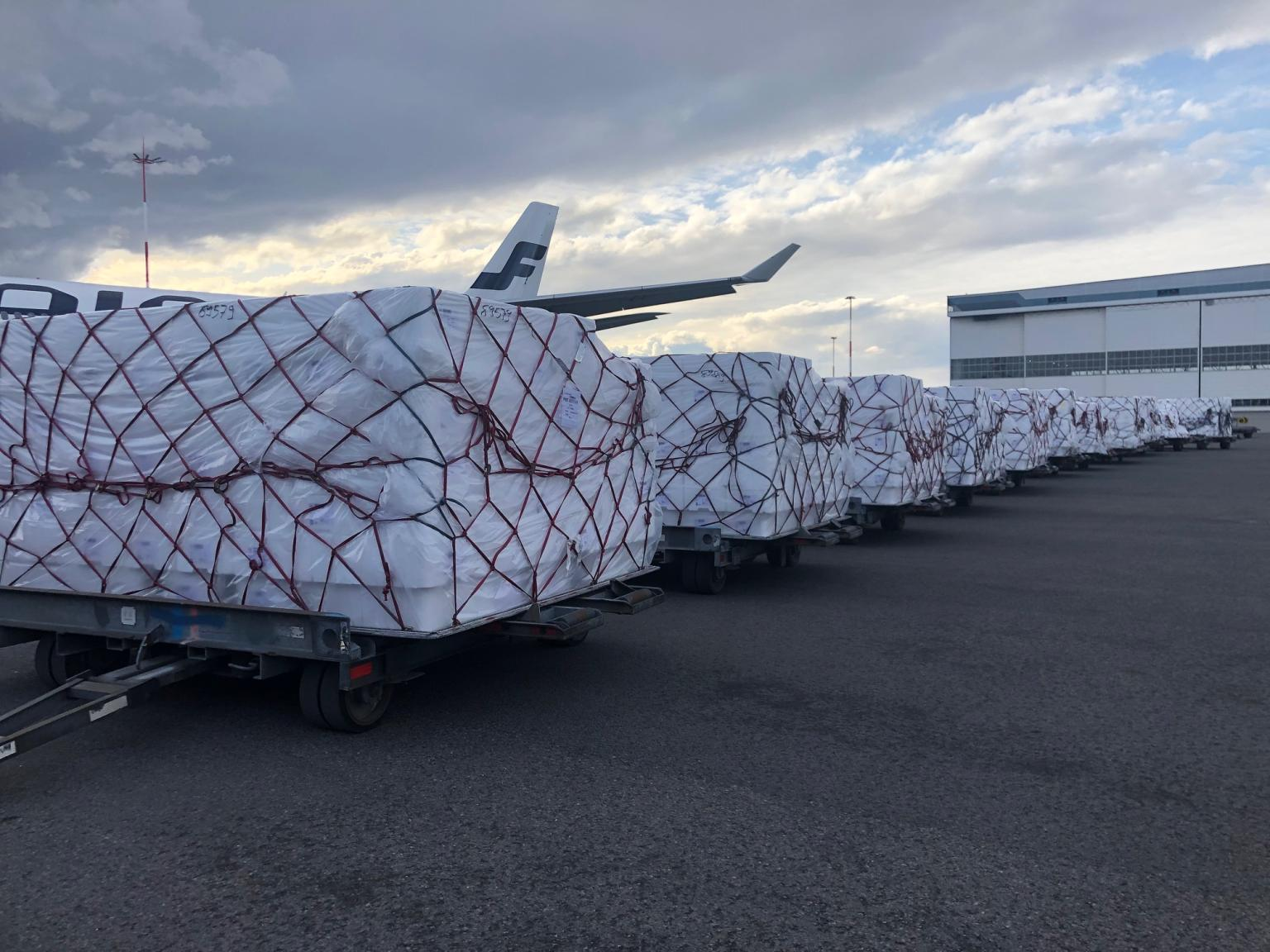 Finnair is currently operating more than 50 one way cargo flights a week.
