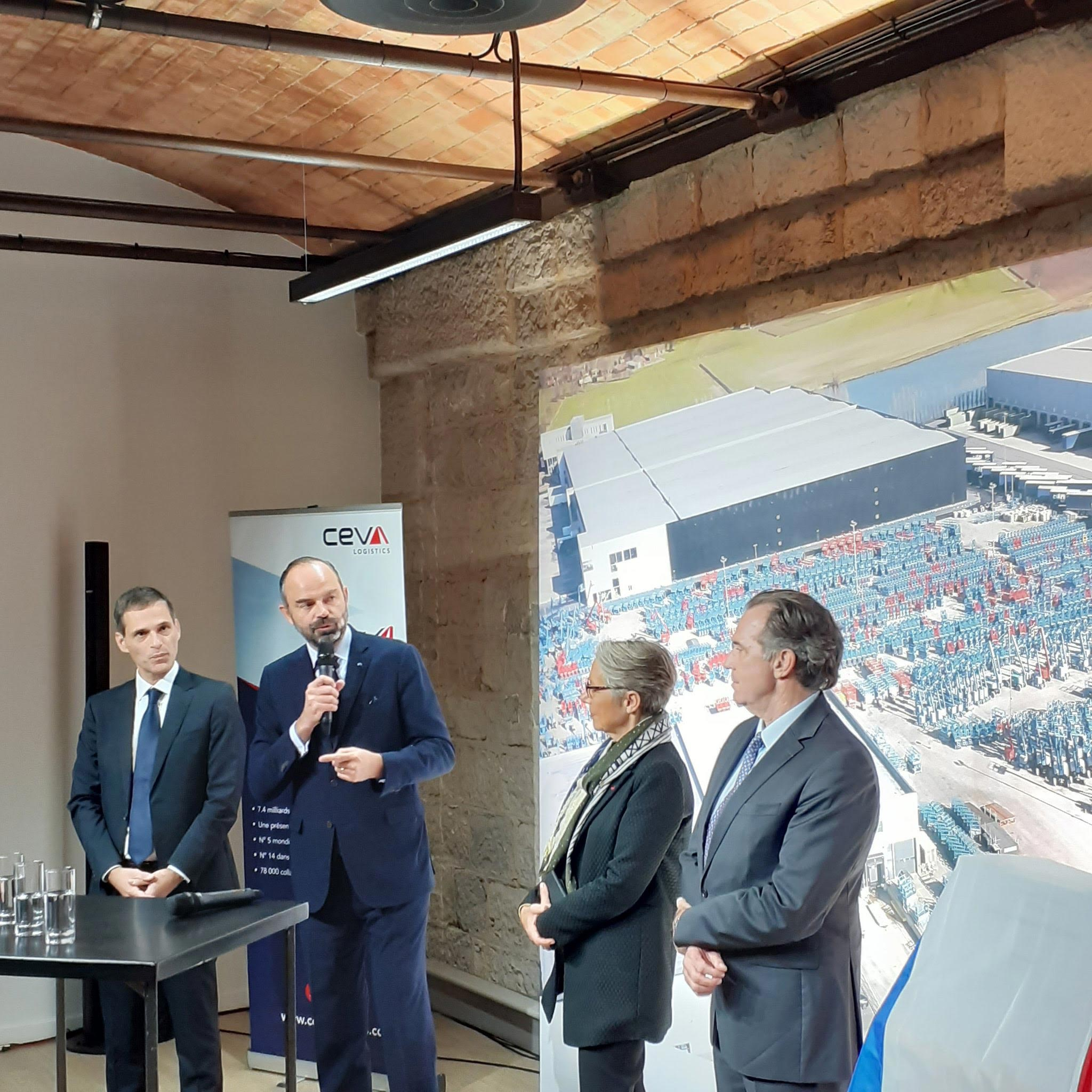 French Prime Minister Edouard Philippe inaugurated the new CEVA Logistics headquarter in November 2019