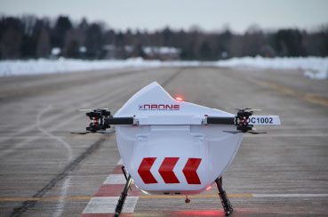Drone Delivery Canada's (DDV) Sparrow Drone DC1002 with payload capacity of 10 pounds