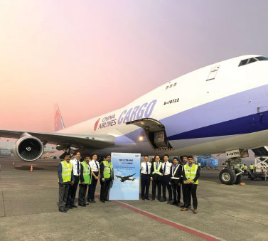 Welcoming China Airlines Cargo's B747-400F and its crew at Mumbai International Airport