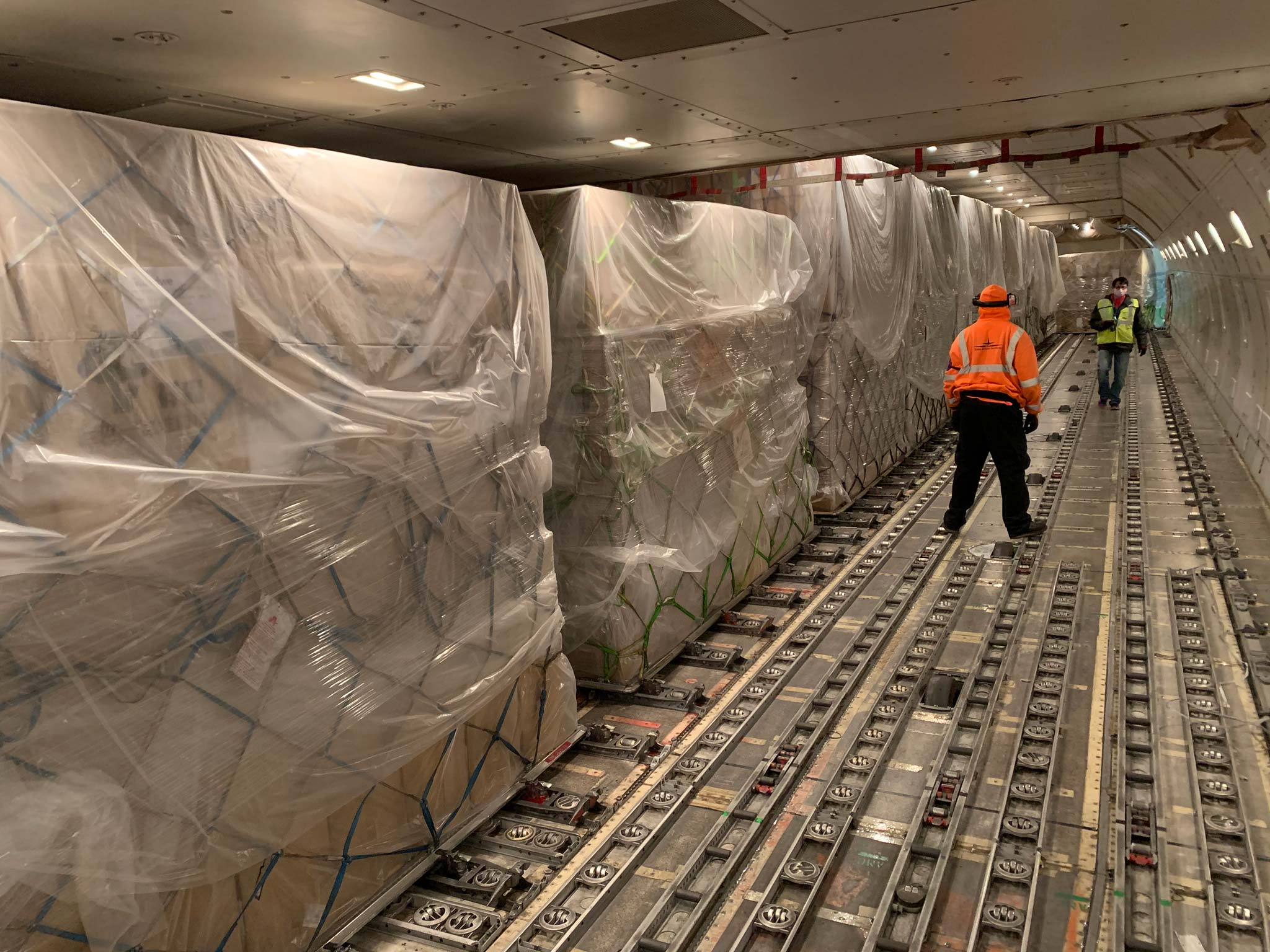 Atlas Air's dedicated charter from SFO to Shanghai carrying nearly 65 tonnes of PPE, including 4.5 million face masks, 121,300 surgical gowns and 16,000 hazmat suits.