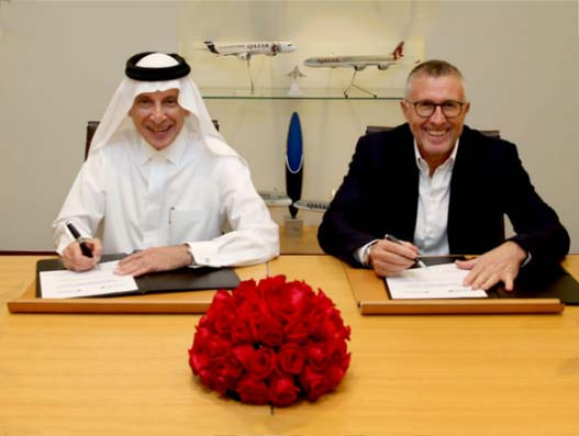 Akbar Al Baker, Qatar Airways Group Chief Executive and Enrique Cueto, LATAM Airlines Group CEO