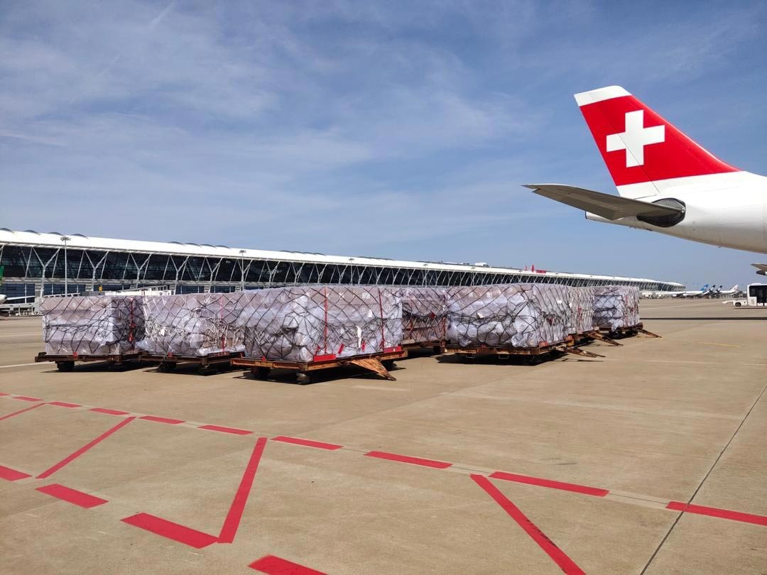 SWISS utilizes the idled Airbus A340 flights to carry critical freight