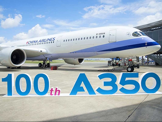 100th Airbus A350 XWB aircraft delivered to China Airlines