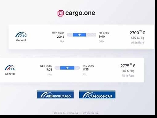 AirBridgeCargo, CargoLogicAir partner with digital booking platform cargo.one