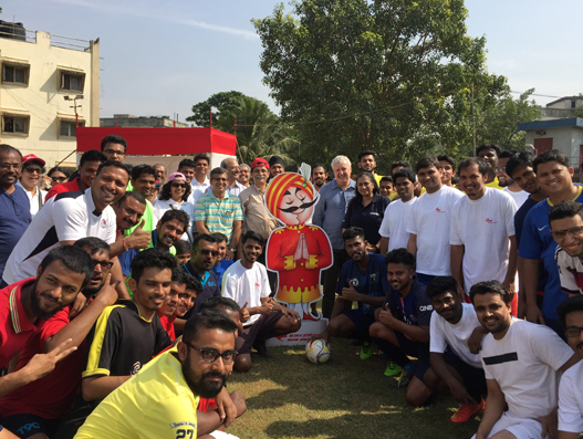 Air India promotes launch of Delhi-Madrid flight operations through football futsal