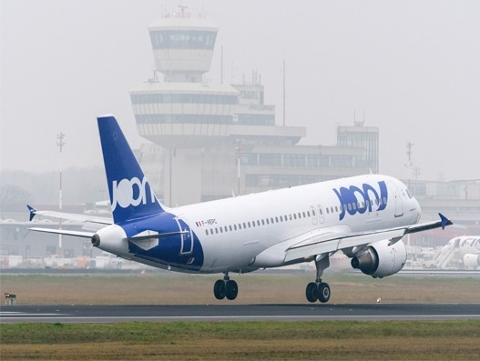 Joon's first new budget airline Airbus A320 takes off from Berlin