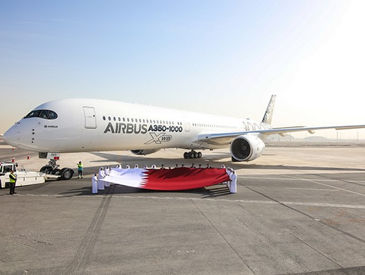 Airbus showcased A350-1000 test aircraft in the Middle East and Asia Pacific