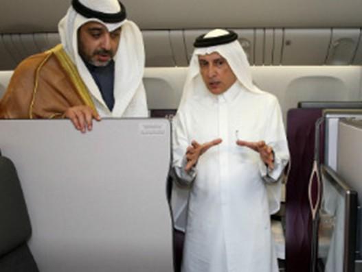 Qatar Airways showcases Qsuite on Boeing 777 at the Kuwait Aviation show