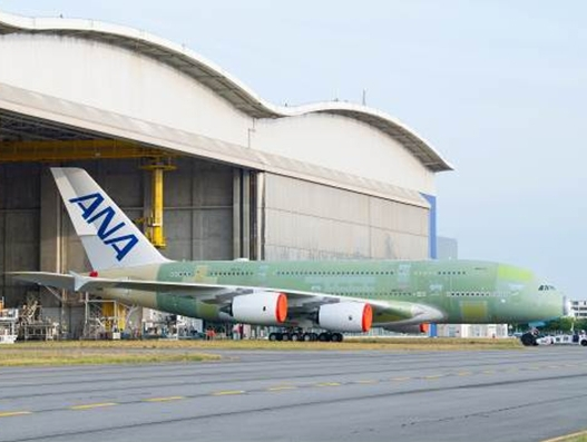 All Nippon Airways' first A380 rolls out of final assembly line in Toulouse