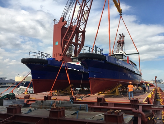 Bolloré Logistics Singapore handles loadout of 6 crew boats