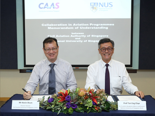 CAAS and NUS collaborate to enhance aviation training