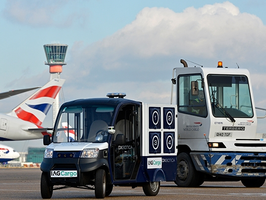 IAG Cargo conducts first airside trial of a self-driving vehicle at Heathrow