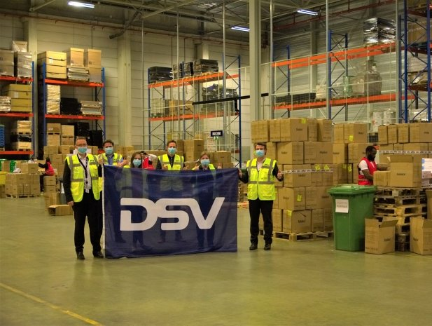 DSV Belgium delivered historic 100,000,000 face masks