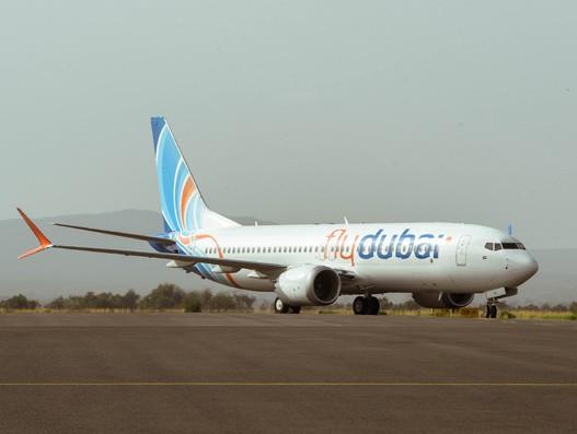 Flydubai's debut flight touches down at Kilimanjaro airport