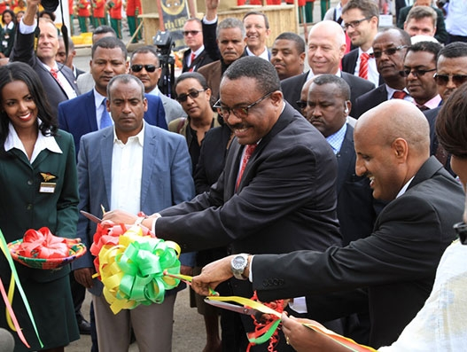 Ethiopian PM cuts the ribbon for Africa's largest cargo terminal