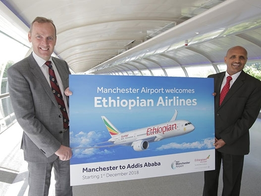 Ethiopian Airlines announces Manchester-Addis Ababa flights