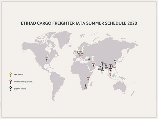 Etihad Cargo increases freighter frequencies across key markets