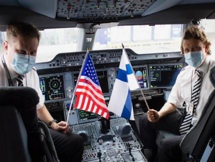 Finnair Cargo's inaugural flight to Pittsburg takes off