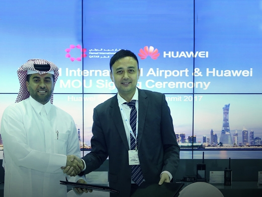 Hamad International Airport sign co-innovation MoU with Huawei