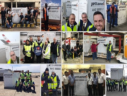 Jettainer's 'Lucky' ULD completes one-year world tour
