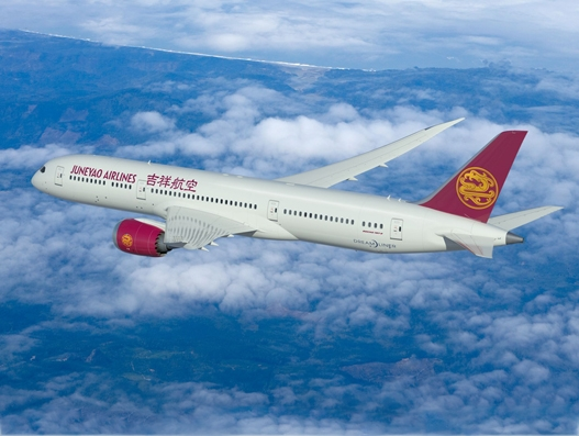 China's Juneyao Airlines orders five B787-9 Dreamliners