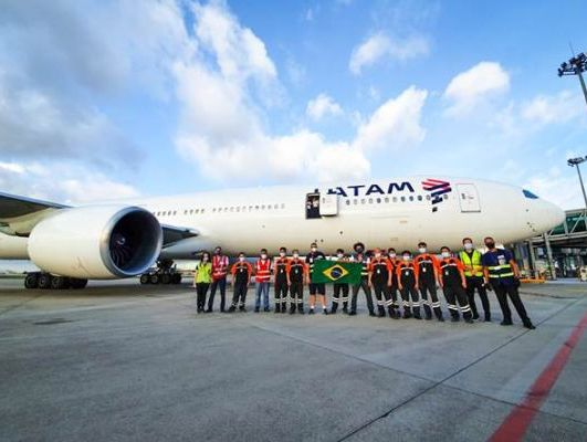LATAM delivers 3200 tonnes of medical supplies from China to Brazil