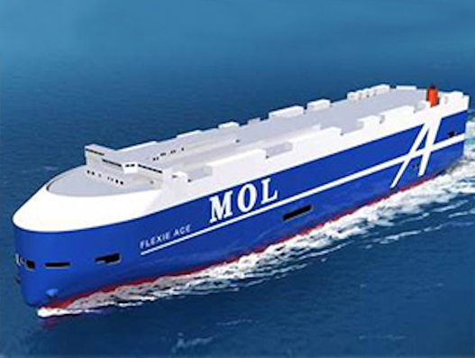 "MOL finalises hull logo design for next-generation car carriers ""FLEXIE"""
