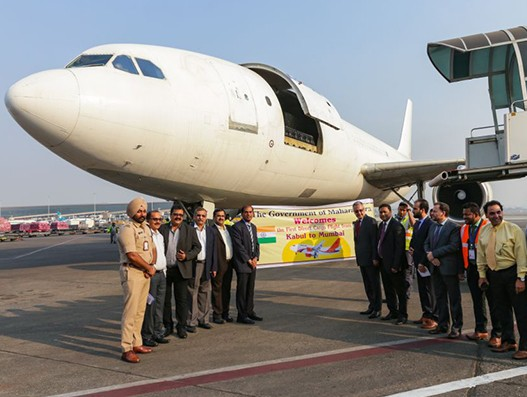 First cargo flight carrying perishables arrived in Mumbai from Kabul