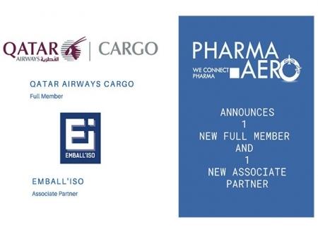 Pharma.Aero onboards QR Cargo, EMBALL'ISO as members