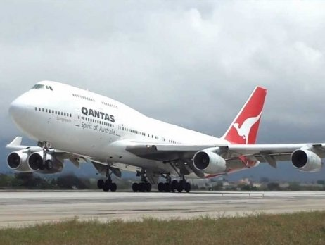 Qantas B 747 left for Wuhan to bring back Australian nationals