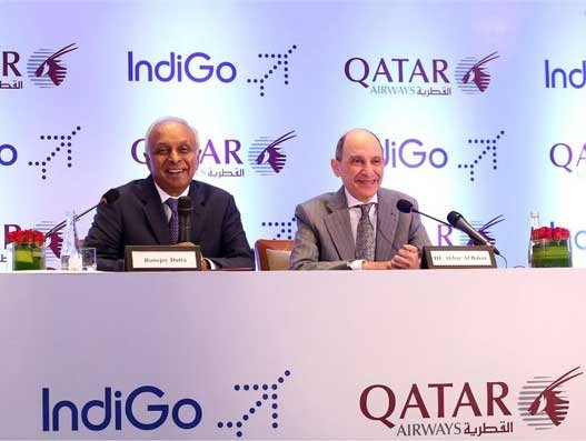 Qatar Airways & IndiGo strengthen ties with codeshare agreement