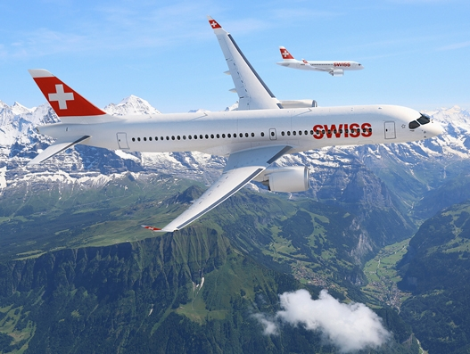 SWISS takes delivery of its first CS300 aircraft from Bombardier