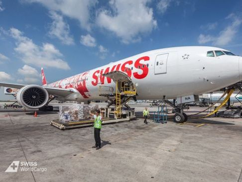 SWISS is flying medical supplies for Swiss Red Cross