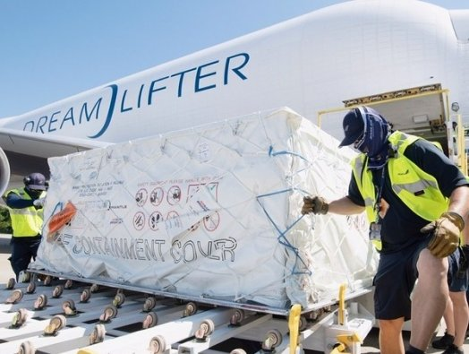 Boeing's three Dreamlifters deliver PPEs to South Carolina