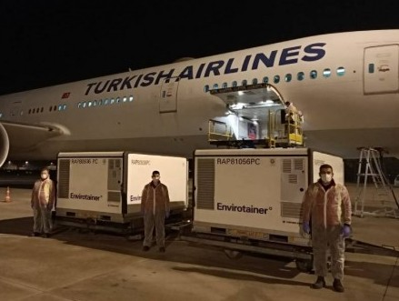 Turkish Cargo carries Covid-19 vaccine shipments from China to Turkey