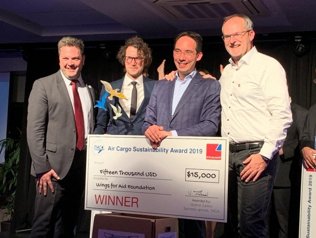 Wings for Aid Foundation wins first TIACA Sustainability Award