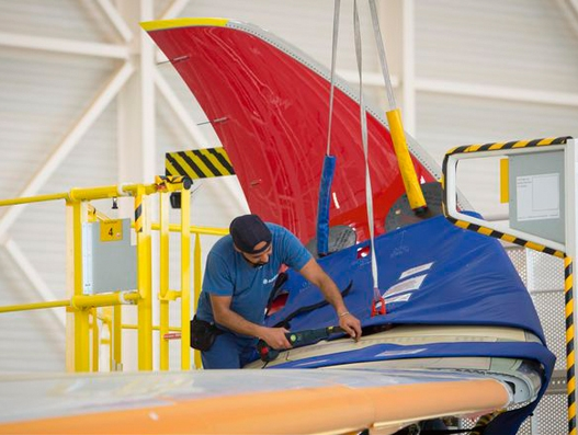 Air Mauritius' first A350 XWB takes shape in Airbus' assembly station