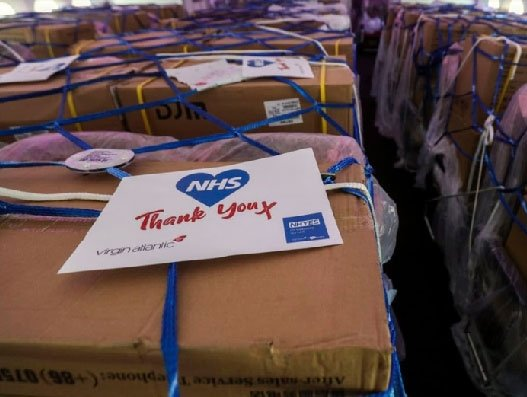 Airlines continue to optimise cabins for NHS supplies