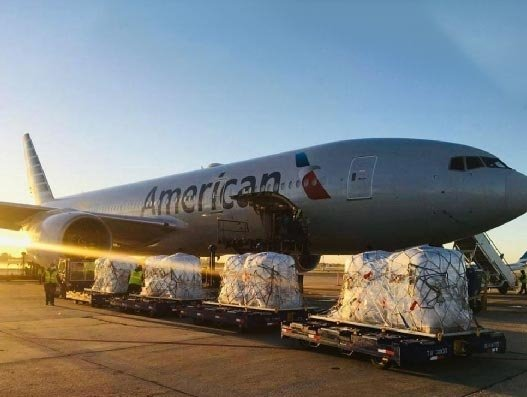 American delivers a record 115,000 pounds of seeds to US