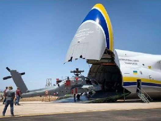 Antonov Airlines, Boeing collaborate to transport Apache Helicopters
