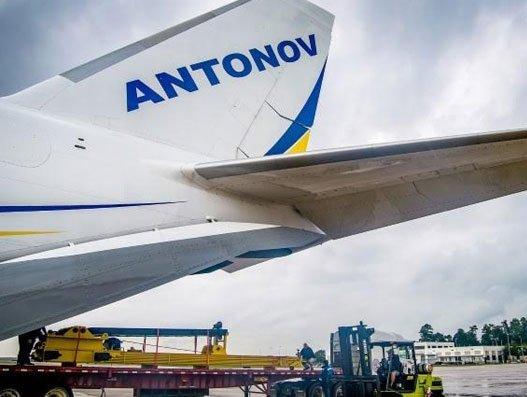 Antonov Airlines flies oil well safety equipment for Crane Worldwide