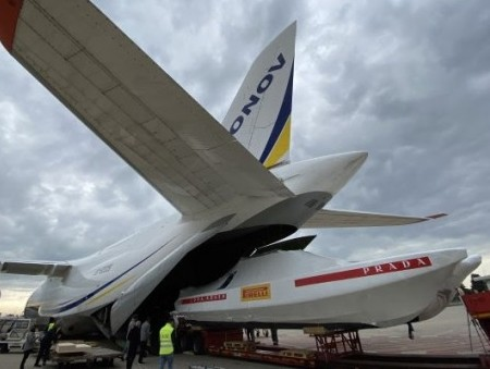 Antonov Airlines transports three racing yachts for 36th America's Cup
