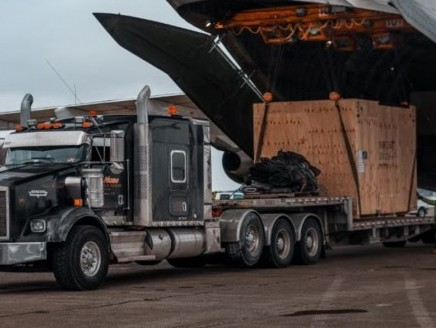 Antonov moves Covid-19 vaccine machinery from Germany to US