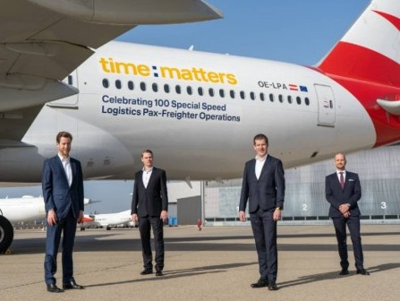 Austrian Airlines, time:matters celebrate 100th cargo flight from Vienna to Penang