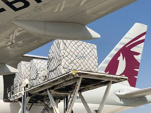 Bolloré, Groupe, Qatar bridge medical supplies to France